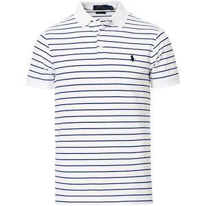 Polo Ralph Lauren Slim Fit Stretch Mesh Stripe Polo Navy/White