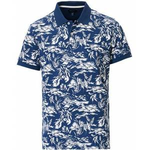 GANT Riviera View Printed Polo Insignia Blue