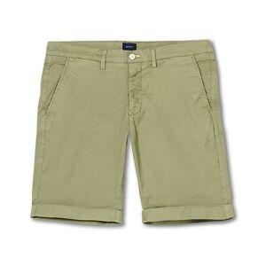 GANT Regular Sunbleached Shorts Oil Green