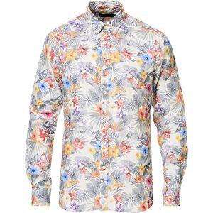 Morris Harvey Printed Flower Button Down Shirt Off White