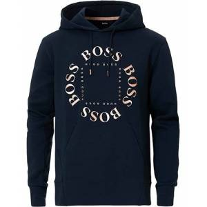 Boss Athleisure Sly Circle Hoodie Navy/Rosé Gold
