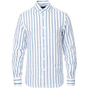 Ralph Lauren Purple Label Striped Linen Shirt White/Blue