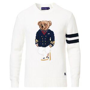 Ralph Lauren Purple Label Cashmere General Bear Sweater Optic White