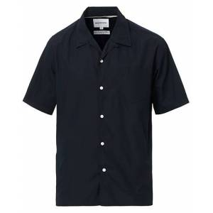 Norse Projects Carsten Poplin Short Sleeve Shirt Dark Navy