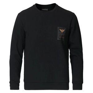 Giorgio Armani Emporio Armani Logo Crew Neck Sweatshirt Black