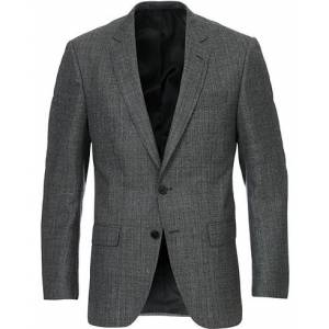Boss Huge Slim Fit Herringbone Blazer Grey