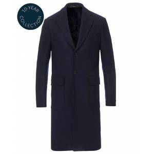 Morris Heritage Structured Wool Patch Pocket Coat Navy