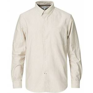 Club Monaco Slim Fit Oxford Stripe Shirt Cappuccino