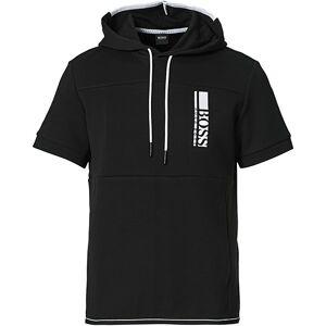 Boss Athleisure Swoody Logo Short Sleeve Hoodie Black