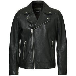 Boss Casual Jabin Leather Jacket Black