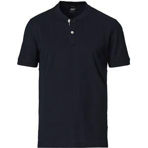 Boss Pratt Knitted Short Sleeve Polo Shirt Dark Blue