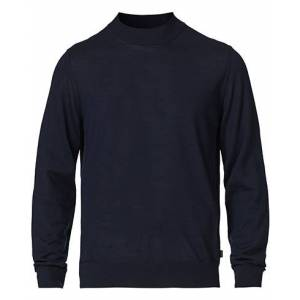 Boss Diluca Merino Knitted Pullover Dark Blue