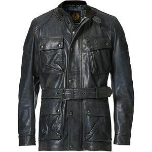 Belstaff Trialmaster Panther 2.0 Leather Jacket Blue Brown
