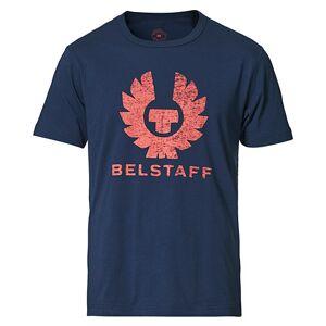 Belstaff Coteland Logo Crew Neck Tee Deep Indigo