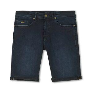Boss Casual Delaware Denim Shorts Dark Blue