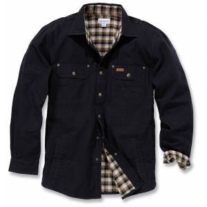 Carhartt Weathered Canvas Skjorte jakke Svart L