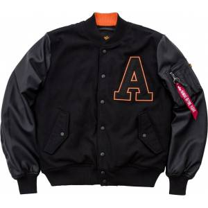 Alpha Industries College Jakke Svart M