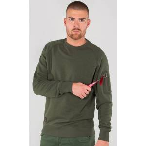 Alpha Industries Solid Crew Neck Sweatshirt Grønn L
