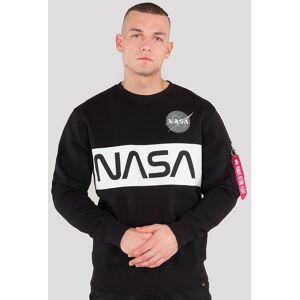 Alpha Industries NASA Inlay Sweatshirt Svart 2XL