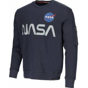 Alpha Industries NASA Reflective Sweatshirt Blå XL