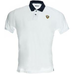 Blauer USA Vintage Poloshirt Hvit 2XL