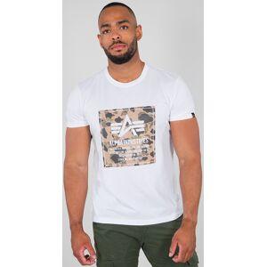 Alpha Industries Camo Block T-shirt Hvit 2XL