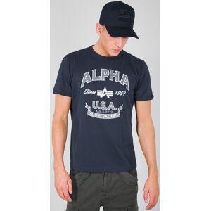 Alpha Industries Alpha FJ T-shirt Blå XL