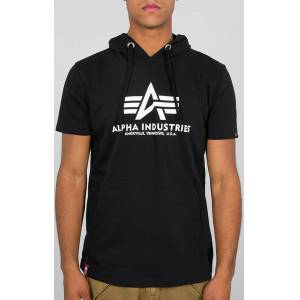 Alpha Industries Basic Hooded T-shirt Svart XS