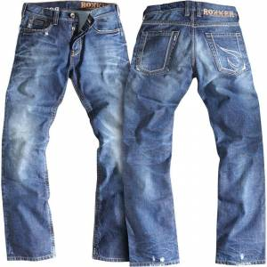 Rokker Rebel Motorsykkel Jeans 32 Blå