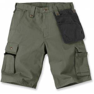 Carhartt Multi Pocket Ripstop Shorts 42 Grønn