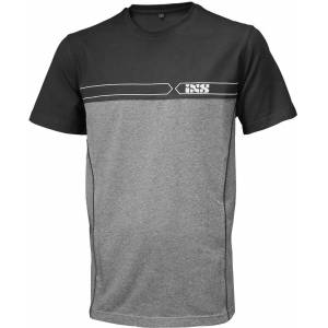 IXS Team T-skjorte XL Svart Grå