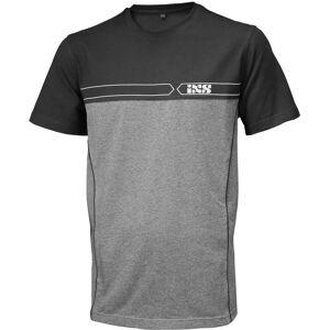 IXS Team T-skjorte 2XL Svart Grå