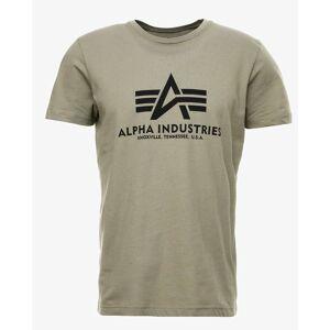 Alpha Industries Basic T-skjorte XS Grønn