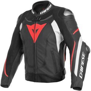 Dainese Super Speed 3 Perforert motorsykkel skinnjakke 50 Svart Hvit Rød