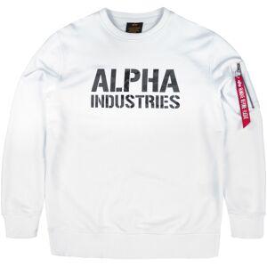 Alpha Industries Camo Print Sweatshirt 2XL Hvit