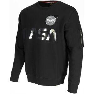 Alpha Industries NASA Reflective Sweatshirt M Svart Sølv