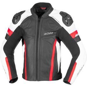 Büse Monza Motorsykkel skinnjakke 48 Svart Hvit Rød