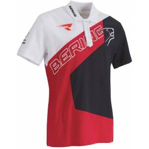 Bering Racing Polo skjorte XL Svart Hvit Rød