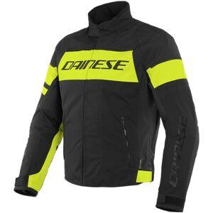 Dainese Saetta D-Dry Motorsykkel tekstil jakke 50 Svart Gul