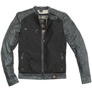 Black-Cafe London Johannesburg Motorsykkel skinn / tekstil jakke 50 Svart Grå