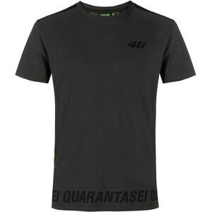 VR46 Core Barred T-shirt XS Svart Grå