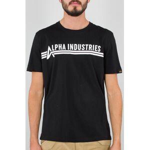 Alpha Industries T-shirt 3XL Svart Hvit