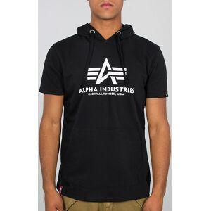 Alpha Industries Basic Hooded T-shirt S Svart