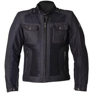 Helstons Collins Denim Motorsykkel tekstil jakke 4XL Svart