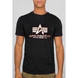 Alpha Industries Basic Foil Print T-shirt 2XL Svart Gull