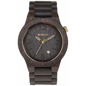 WeWood Alpha Black Gold - Klokke laget av tre med gull detaljer