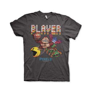 Pixels Retro Player - Grå Unisex T-skjorte