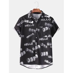 Sommer moro Hawaii menn BlackLong ermet t skjorte | Wellcoda