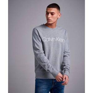 Calvin Klein Sweatshirt Cotton Front Logo Sweatshirt Grå