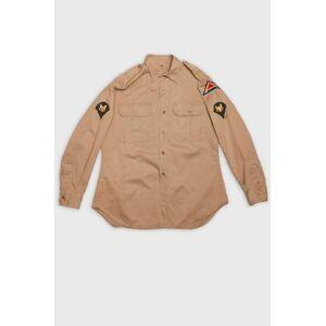 Vintage by Stayhard Skjorta US Officer Shirt Patch Brun
